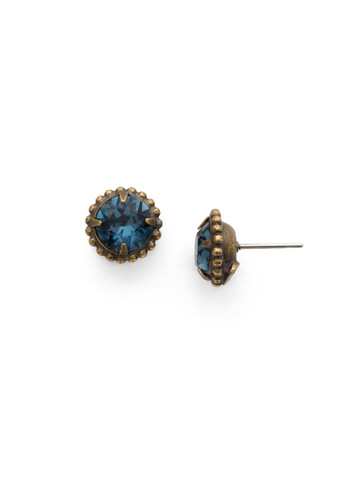 Simplicity Stud Earring in Antique Gold-tone Montana