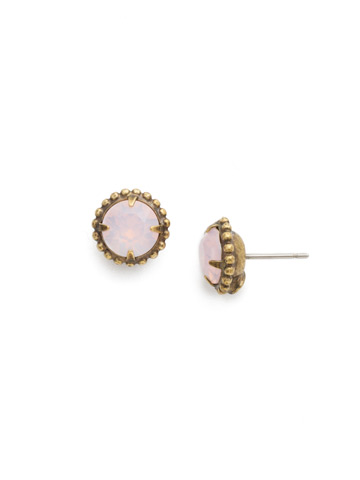 Simplicity Stud Earring in Antique Gold-tone Rose Water