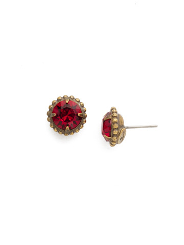 Simplicity Stud Earring in Antique Gold-tone Siam