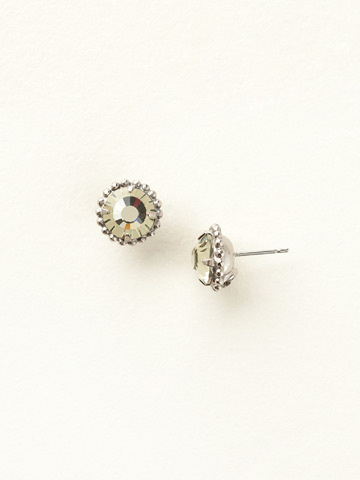Simplicity Stud Earring in Antique Silver-tone Jonquil