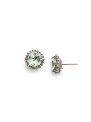 Simplicity Stud Earring in Antique Silver-tone Mint