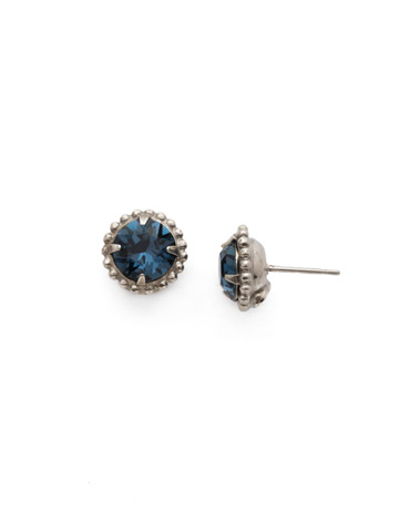 Simplicity Stud Earring in Antique Silver-tone Montana