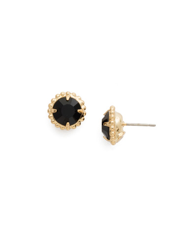 Simplicity Stud Earring in Bright Gold-tone Jet