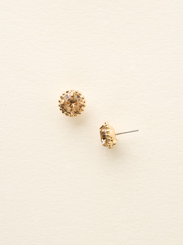Simplicity Stud Earring in Bright Gold-tone Light Colorado