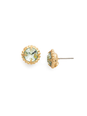 Simplicity Stud Earring in Bright Gold-tone Mint