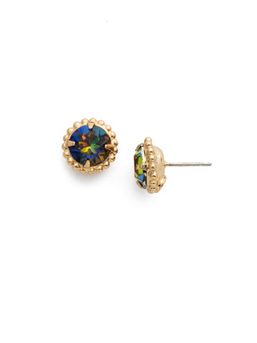 Simplicity Stud Earring in Bright Gold-tone Volcano