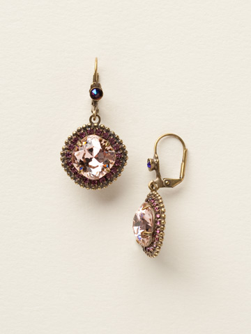 Cushion Cut Drop Earring in Antique Gold-tone Sundance