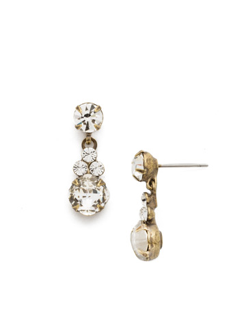 Classic Clover Earring in Antique Gold-tone Crystal