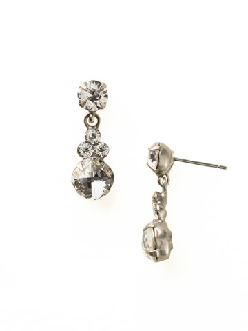 Classic Clover Earring in Antique Silver-tone Crystal