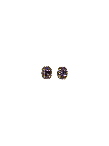 Antique-Inspired Oval Cut Earring in Antique Gold-tone Harmony