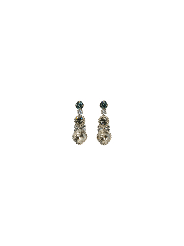 Double Happiness Drop Earring in Antique Silver-tone Pewter