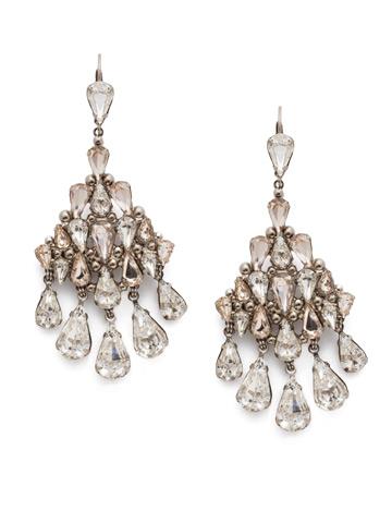 Bonita Statement Earring in Antique Silver-tone Soft Petal