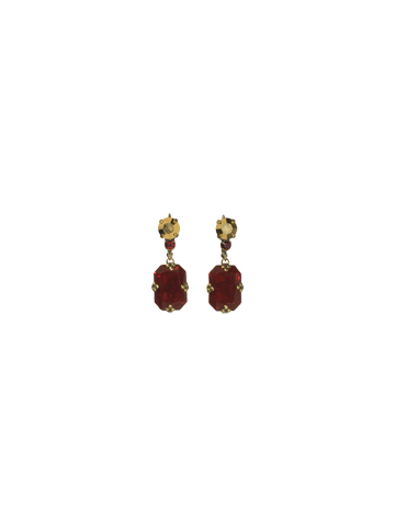 Treat Yourself Earring in Antique Gold-tone Go Garnet