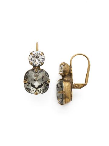 On the Edge Earring in Antique Gold-tone Black Diamond