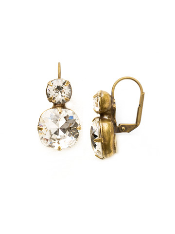 On the Edge Earring in Antique Gold-tone Crystal