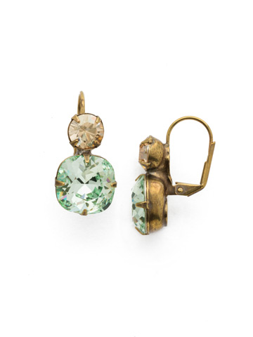On the Edge Earring in Antique Gold-tone Mint