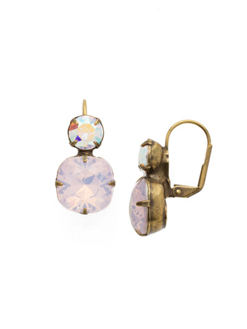 On the Edge Earring in Antique Gold-tone Rose Water