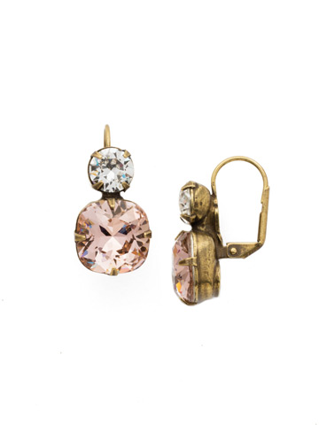 On the Edge Earring in Antique Gold-tone Vintage Rose