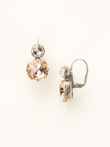 On the Edge Earring in Antique Silver-tone Light Peach