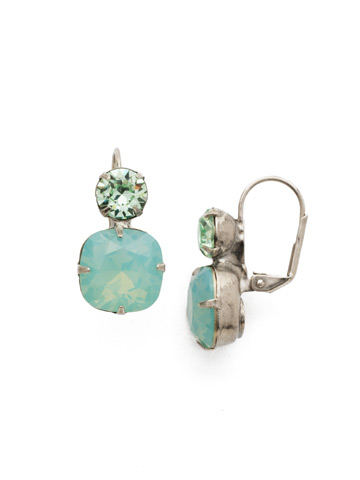 On the Edge Earring in Antique Silver-tone Pacific Opal