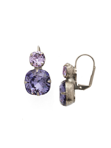 On the Edge Earring in Antique Silver-tone Violet