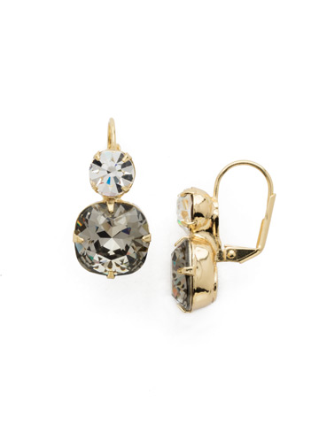 On the Edge Earring in Bright Gold-tone Black Diamond