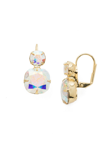 On the Edge Earring in Bright Gold-tone Crystal Aurora Borealis