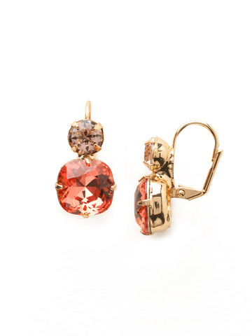 On the Edge Earring in Bright Gold-tone Coral