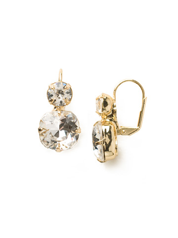 On the Edge Earring in Bright Gold-tone Crystal
