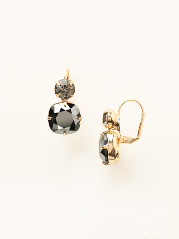 On the Edge Earring in Bright Gold-tone Hematite Crystal