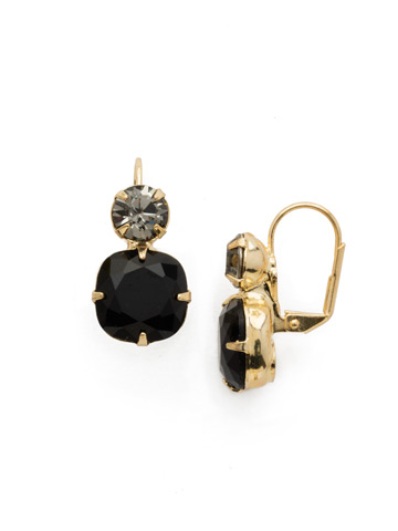 On the Edge Earring in Bright Gold-tone Jet