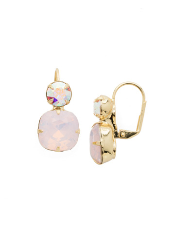 On the Edge Earring in Bright Gold-tone Rose Water