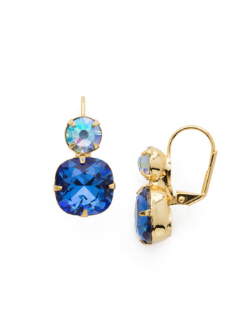 On the Edge Earring in Bright Gold-tone Sapphire