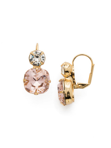 On the Edge Earring in Bright Gold-tone Vintage Rose