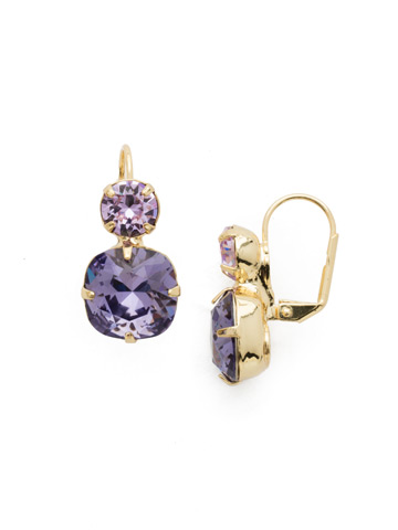 On the Edge Earring in Bright Gold-tone Violet