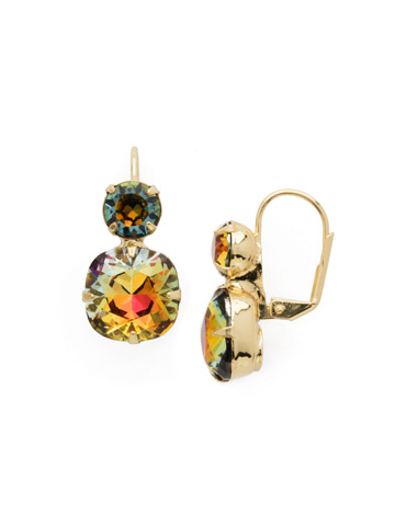 On the Edge Earring in Bright Gold-tone Volcano