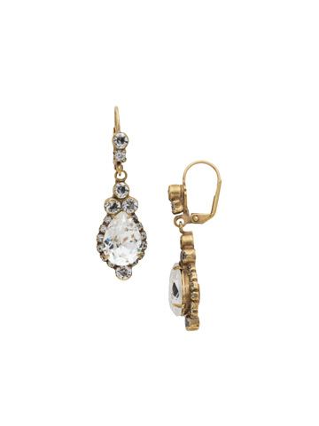 Sweet Treats Earring in Antique Gold-tone Crystal