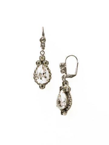 Sweet Treats Earring in Antique Silver-tone Crystal Rock