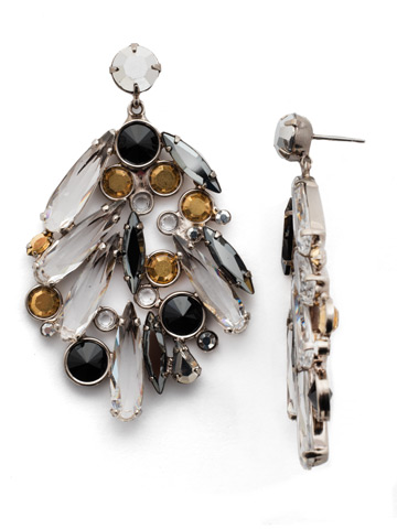 Life of the Party Earring in Antique Silver-tone Heavy Metal