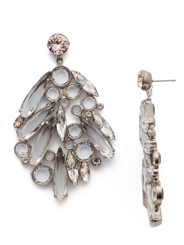 Life of the Party Earring in Antique Silver-tone Soft Petal