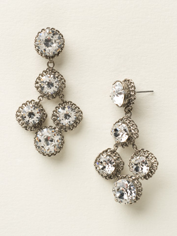 Too Hot To Stop Earring in Antique Silver-tone Crystal Clear
