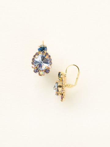 Twinkling Trinkets Earring in Bright Gold-tone Sweet Sapphire