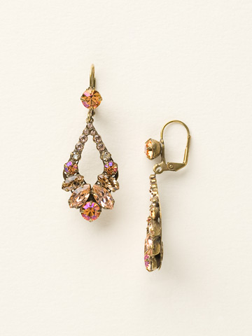 Adornment Earring in Antique Gold-tone Desert Sun