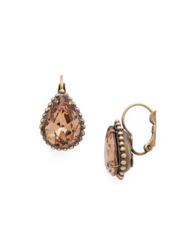 Pear Cut Drop Earring in Antique Gold-tone Neutral Territory