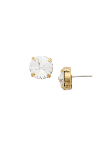 Radiant Rivoli Earring in Antique Gold-tone Crystal