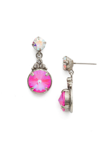 Larch Earring in Antique Silver-tone Pink Mutiny