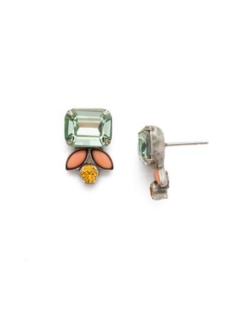 Zinnia Earring in Antique Silver-tone Vivid Horizons