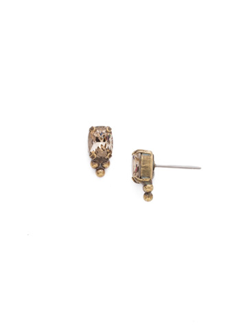 Ternion Post Earring in Antique Gold-tone Neutral Territory