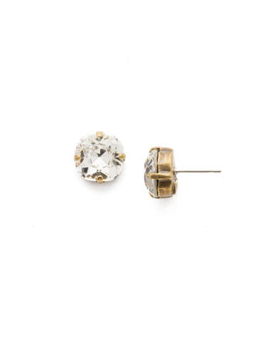 Halcyon Earring in Antique Gold-tone Crystal