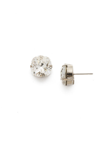 Halcyon Earring in Antique Silver-tone Crystal